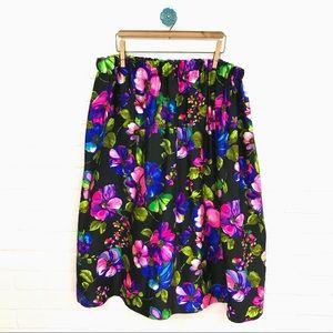 VINTAGE | Handmade Floral Midi Skirt